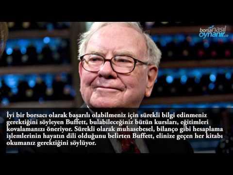 Warren Buffett'ın Borsa Yatırımcılarına 2015 Tavsiyeleri