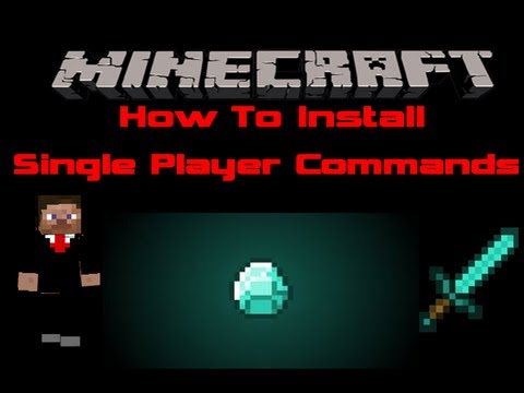 Minecraft How To Install Single Player Commands and world edit 1.5