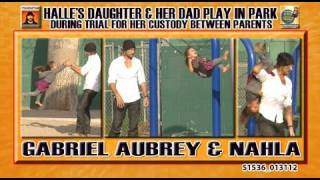 Gabriel Aubrey and Daughter Nahla Play in Park S1536