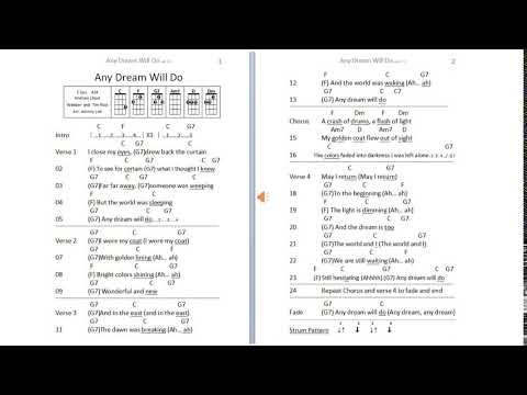 Page 1 - Any Dream Will Do   C key