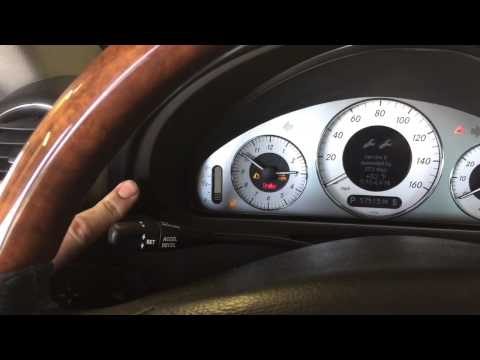 How to reset oil change reminder on Mercedes CLK500
