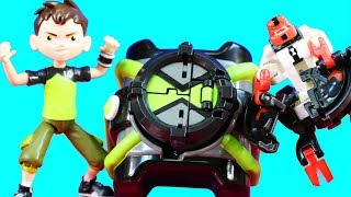 Ben 10 Teams Up With Imaginext Batman & Omnitrix Omni Launch Battle Figures Toys