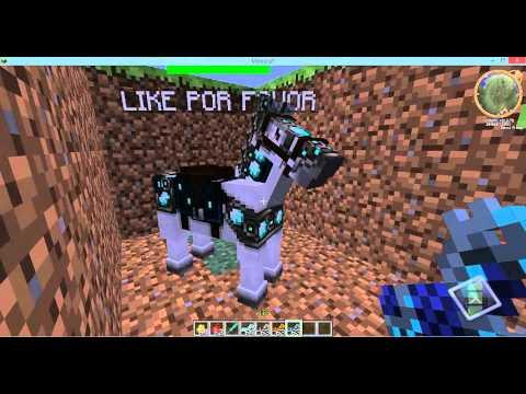 como domesticar a un caballo en minecraft 1.5.1 (MO CREATURE)