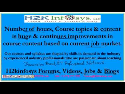 software QA testing certification training | QA Testing Training online | Job placement | H2KInfosys