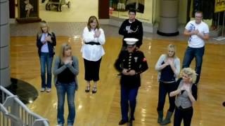 US  Marine Comes Home From Afghanistan, Surprises Dad