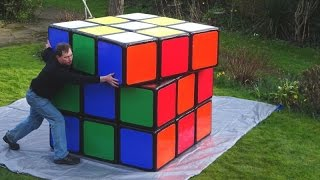 New footage! Official Biggest Rubik's Cube in the world by Tony Fisher - huge 3x3x3 twisty puzzle