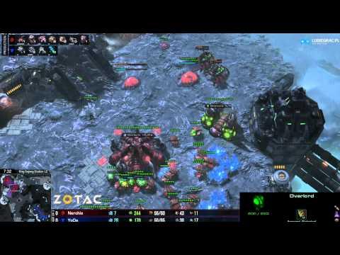 ZvT Nerchio vs Yoda -g1- Starcraft 2 HD Polski komentarz