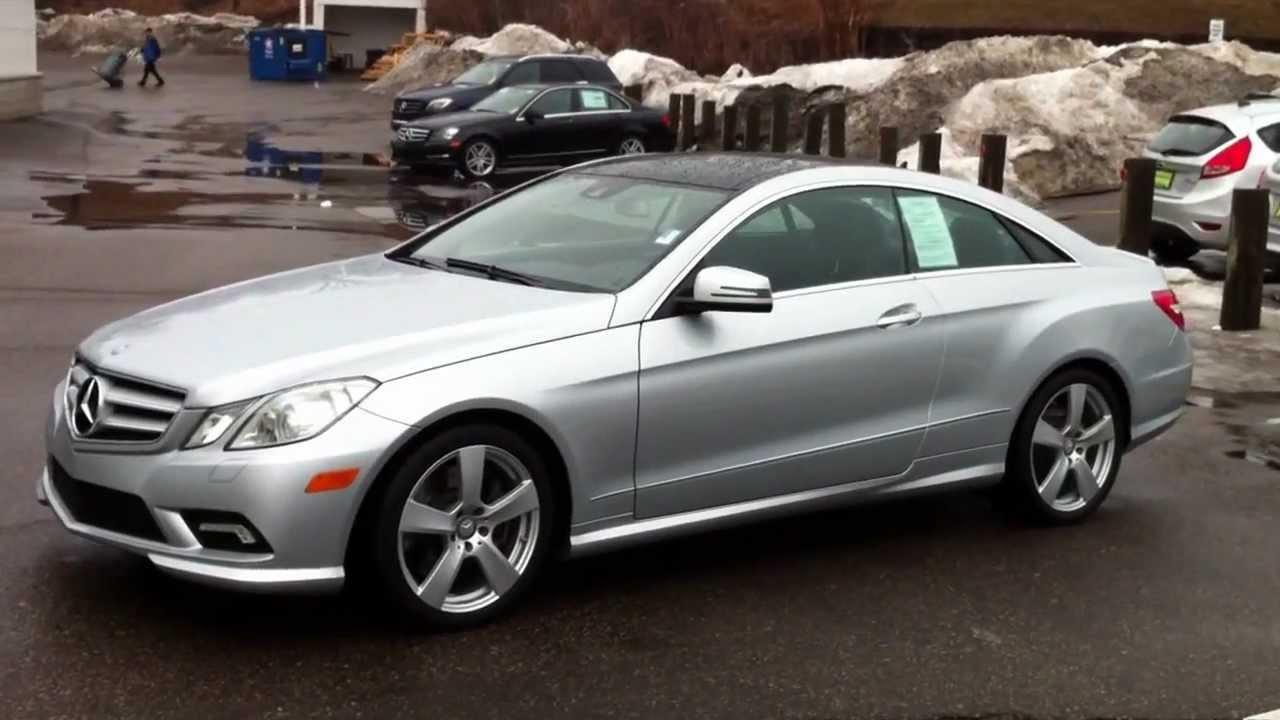 2010 mercedes benz e550 coupe iridium silver black for Mercedes benz e550 coupe