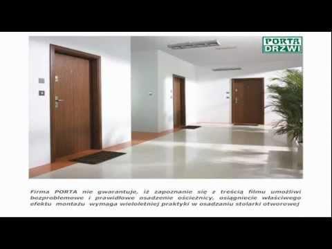 Poradnik Montaż antywlamaniowych Drzwi Porta Granit w gotowym otworze Akademia Montażu