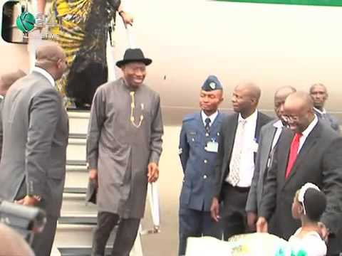 Goodluck Jonathan in Kenya For 3-day Visit