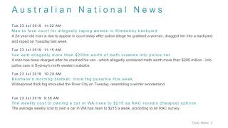 National News Headlines for 23 Jul 2019 - 1 PM Edition