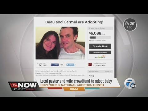 Local pastor, wife using creative crowdfunding to ask community's help to adopt a baby