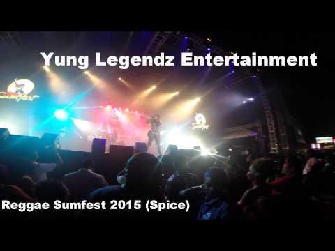SPICE PERFORMING LIVE AT REGGAE SUMFEST 2015