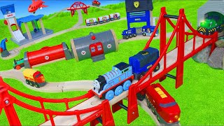 Brio & Thomas and Friends Toy Trains w/ Fire Truck, Toy Vehicles & Wooden Railway Train for Kids