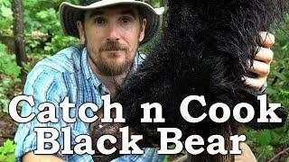 Catch n Cook BLACK BEAR!!! | ROAD KILLED BEAR | The Wilderness Living Challenge 2017 | S02E06