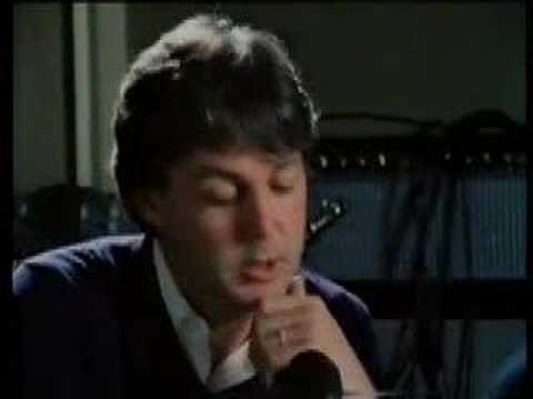 Paul McCartney cries after John Lennon's death