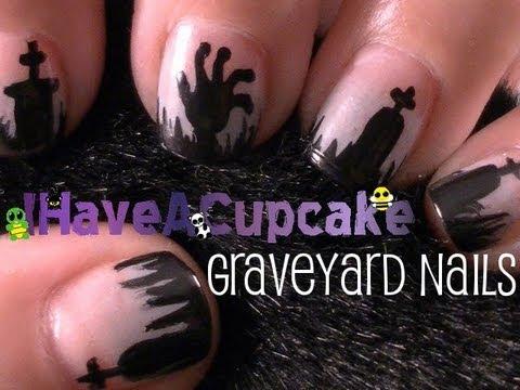 Graveyard Nail Art