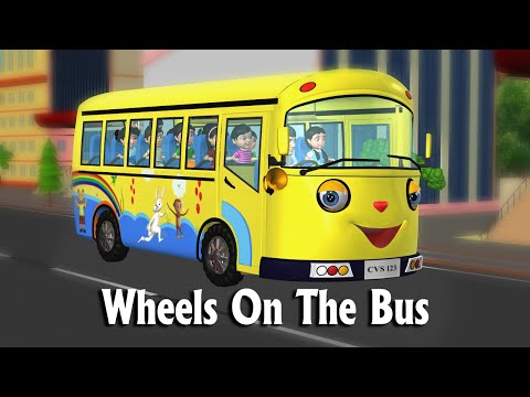 Wheels On The Bus Go Round And Round New - 3d Animation Nursery Rhymes & Songs For Children video
