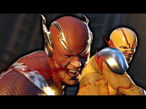 Flash Vs. Reverse Flash Fight Scene - Injustice 2 (Justice League 2017)