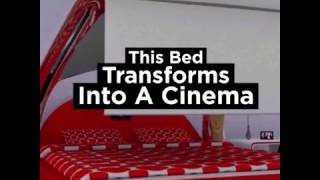 Download Awesome Bed Transforms Into A Cinema 3Gp Mp4