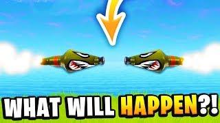 WHAT WILL HAPPEN IF 2 ROCKETS COLLIDE in Fortnite: Battle Royale!? (MASSIVE NUKE EXPLOSION?)
