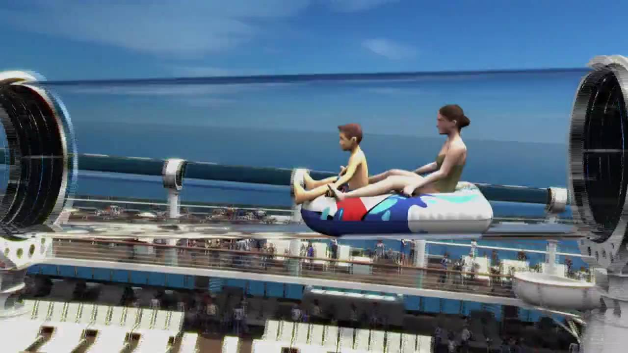 Disney Cruise Line Aquaduck Water Roller Coaster Slide