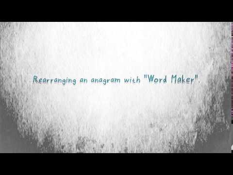 Anagram finder and word maker