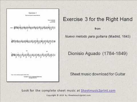 Dionisio Aguado - Exercise 3 In A Major