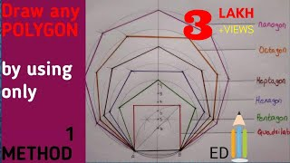 How to draw POLYGON -draw any polygon by using 1 method