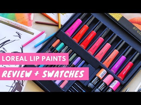 Loreal Lip Paints Swatches & First Impression Review | Debasree Banerjee