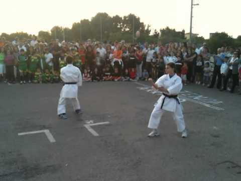 Esibizione karate duo alla settimana dello sport
