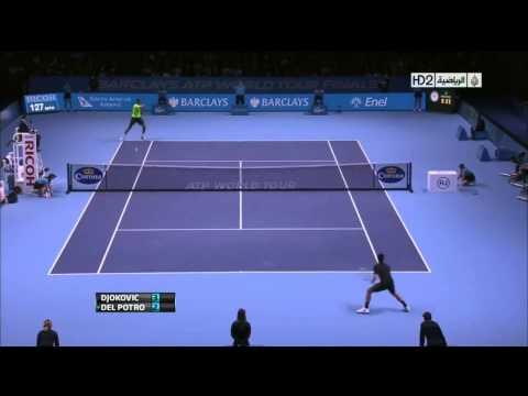 Atp World Tour Finals 2012 - Del Potro vs Djokovic SF Parte 1 (HD)