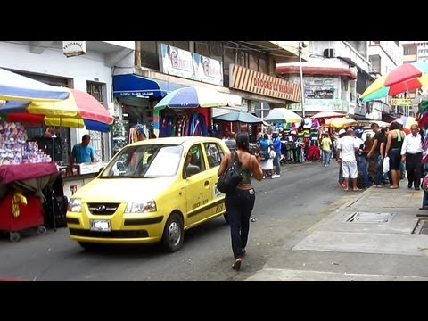 A walk in the center of Cali, Colombia