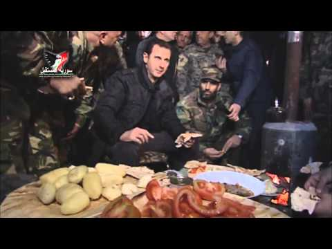 Syrian President Bashar al-Assad celebrates New Year (2015) in his own way