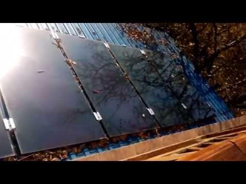 Аморфная тонкопленочная солнечная батарея панель.ТЕСТ.Осень.После обеда.Solar GS 50 TEST