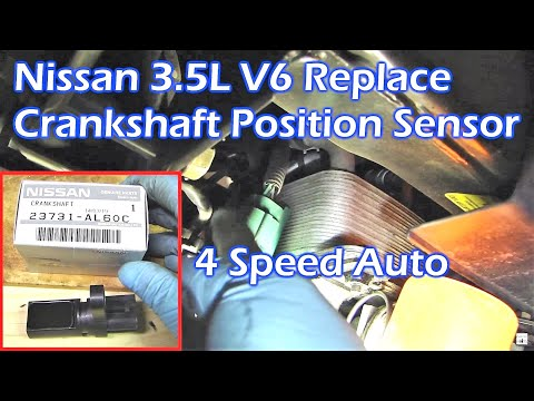 Replace Nissan 3 5l V6 Crankshaft Position Sensor Youtube