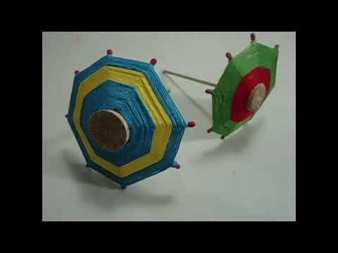 Como hacer una sombrilla o paraguas de corchos e hilos :)