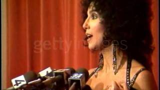 Cher at the Golden Globe Awards Press Conference (1988)