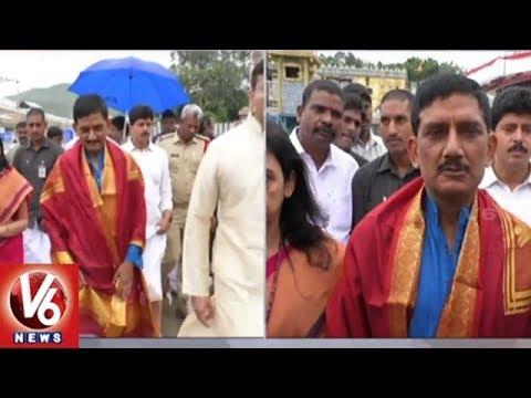 AP New DGP RP Thakur Visits Tirumala Sri Venkateshwara Swami Temple | V6 News