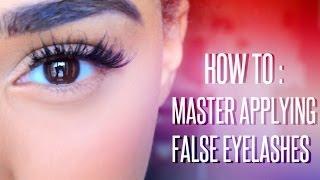 How to : Master Applying False Eyelashes