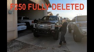 F250 FULLY DELETED AND TRICKED OUT
