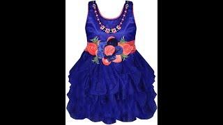 MPC Cute Fashion Baby Girl's Satin Frock Dress