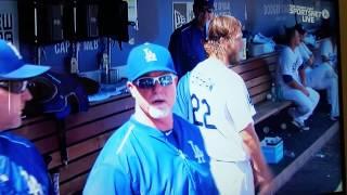 Clayton kershaw argues Don Mattingly
