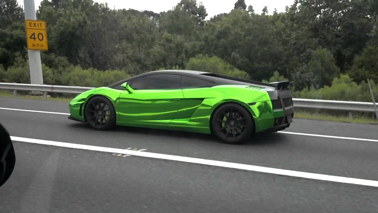 Shiny Neon Green Lamborghini Youtube