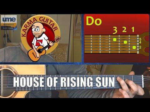 Como Tocar HOUSE OF RISING SUN En GUITARRA; Tutorial Fácil THE ANIMALS