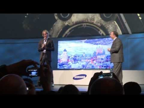 Michael Bay walks off stage at Samsung press conference CES