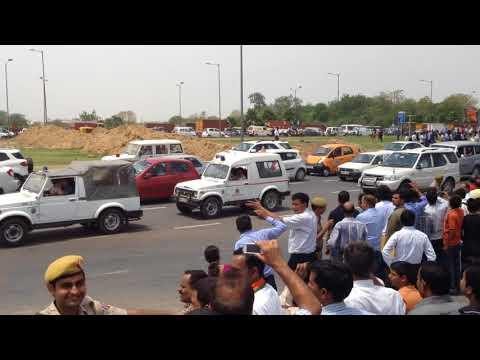 Prime Minister Shri.Narendra Modi's Convoy at IGI Airport New Delhi as on 17 May 2014