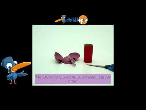 Elefante de cartón. Manualidades infantiles, manualidades con material reciclad