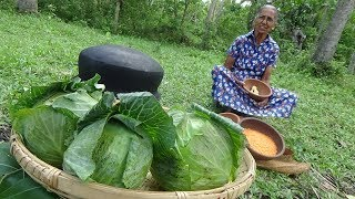 Cabbage Snacks Recipe prepared in my Village by Grandma | Village Life