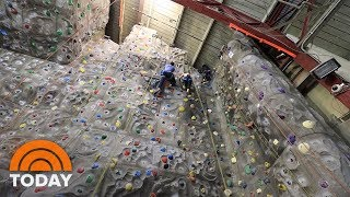 Weekend TODAY Anchors Go Head To Head On Rock Climbing Wall | TODAY